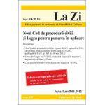 Noul Cod de procedura civila si Legea pentru punerea in aplicare actualizata la data de 05.06.2012
