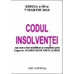 Codul insolventei - editia a III-a - 7 martie 2016