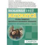 Bacalaureat 2017 Matematica - Filiera teoretica specializarea matematica - informatica - Exercitii recapitulative - Teste
