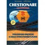 CHESTIONARE AUTO CATEGORIA B 2020 Pentru verificarea cunostintelor de Legislatie Rutiera si Intrebari de Mecanica. CD Interactiv GRATUIT!