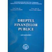 Dreptul finantelor publice - curs universitar