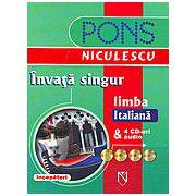 Invata singur limba italiana cu 4 CD-uri