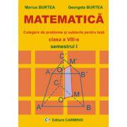 Matematica. Culegere de probleme si subiecte pentru teza. Clasa a VIII-a. Semestrul I
