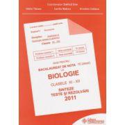 Bacalaureat 2011- Biologie clasele XI-XII, sinteze teste si rezolvari