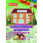 Culegere de exercitii si probleme de matematica pentru clasele 1-4 (editia a 10 a revizuita)