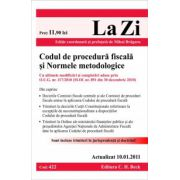 Codul de procedura fiscala si Normele metodologice (actualizat la 10.01.2011). Cod 422