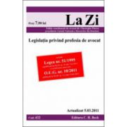 Legislatia privind profesia de avocat actualizat la 5.03.2011
