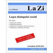 Legea dialogului social (actualizat la 20.05.2011).