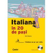 ITALIANA IN 20 DE PASI (carte cu CD)
