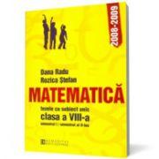 Matematica Teze cu subiect unic  Clasa a VIII-a