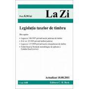 Legislatia taxelor de timbru.  Actualizat la 10.08.2011