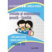 Unitate si continuitate scoala-familie cls a III-a (Agenda elevului)