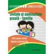 Unitate si continuitate scoala-familie cls a IV-a (Agenda elevului)