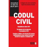 Codul civil - Republicat octombrie 2011 Culegere de acte normative