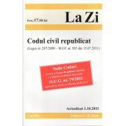 Codul civil republicat (Legea nr. 287/2009 – M.Of. nr. 505 din 15.07.2011) Editia 3