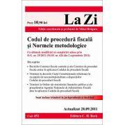 Codul de procedura fiscala si Normele metodologice. Actualizat 20 septembrie 2011