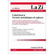 Codul fiscal si Normele metodologice de aplicare Actualizat 25 septembrie 2011