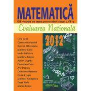 EVALUARE NAŢIONALĂ 2012 - MATEMATICĂ