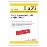 Codul de procedura civila si legile conexe  actualizata la data de 5 februarie 2012