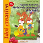 Figurine din hârtie. Modele de primăvară şi Paşti - Idei Creative 36