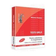 Teste grila pentru admiterea in magistratura 2012.  Editia a V-a, revazuta si adaugita