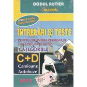 Întrebări şi teste pentru obţinerea permisului de conducere auto  2012  (autobuze, camioane)