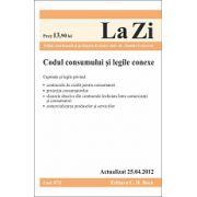 Codul consumului si legile conexe actualizat la 25.04.2012