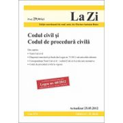 Codul civil si Codul de procedura civila  actualizata la data de 25 mai 2012