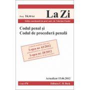 Codul penal si codul de procedura penala. Actualizat 15.06.2012