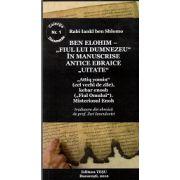 Ben Elohim - Fiul lui Dumnezeu in manuscrise antice ebraice uitate