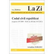 Codul civil republicat Actualizat la 20 august 2012