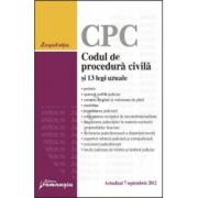 Codul de procedura civila si 13 legi uzuale Actualizat 7 septembrie 2012