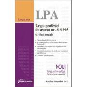 Legea profesiei de avocat nr. 51/1995 si 4 legi uzuale Actualizat 1 septembrie 2012