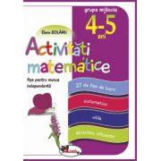 Activitati matematice, fise pentru munca independenta, 4-5 ani