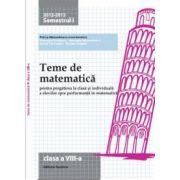Teme de matematică 2013  Clasa a  VIII-a
