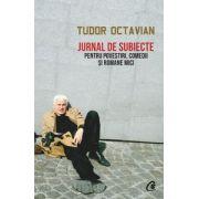 Jurnal de subiecte pentru povestiri, comedii şi romane mici