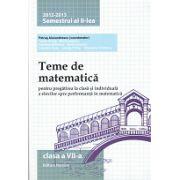 Teme de matematică 2013 Clasa a VII-a Semestrul II