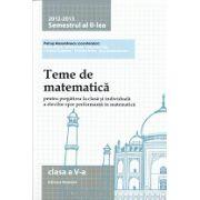 Teme de matematică 2013 Clasa a V-a Semestrul II