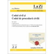 Codul civil si Codul de procedura civila actualizat la data de 25.02.2013