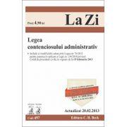 Legea contenciosului administrativ actualizat la 20.02.2013