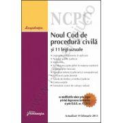 Noul Cod de procedura civila si 11 legi uzuale actualizat 19 februarie 2013