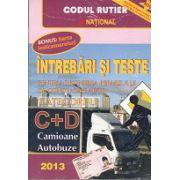 Întrebări şi teste 2013 pentru obţinerea permisului auto  categoriile C+D - Camioane si autobuze