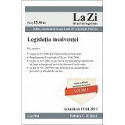 Legislatia insolventei  actualizata la data de 15.04.2013