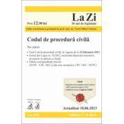 Codul de procedura civila (actualizat la 10.06.2013)