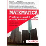 Matematica Clasa a IX-a - Probleme si Exercitii pe Unitatii de Invatare (profilul servicii, profilul resurse, profilul tehnic)