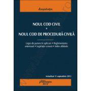 Noul Cod civil. Noul Cod de procedura civila - actualizat 11 septembrie 2013 cu legea de punere in aplicare, reglementarea anterioara, legislatie conexa, index alfabetic