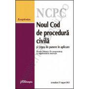 Noul Cod de procedura civila si Legea de punere in aplicare - actualizat 27 august 2013 cu index alfabetic si corespondenta cu reglementarile anterioare