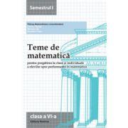 Teme de matematică 2014 - Clasa a VI-a semestrul 1