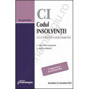 Codul insolventei - actualizat 15 octombrie 2013