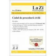 Codul de procedura civila. Cod 530. Actualizat 15.01.2014